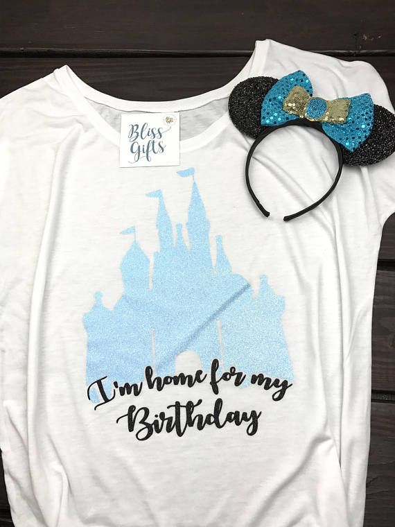 Disney Birthday Shirt Minnie Princess Gift Home Castle Shirts For Women