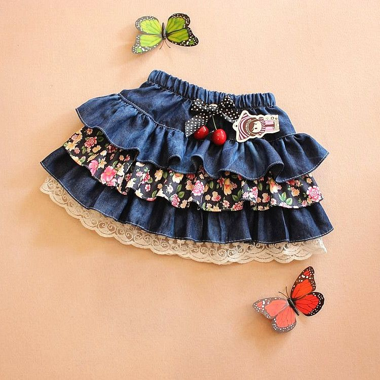 0d64bef53 falda en jeans para niñas - Buscar con Google | cositas lindas para ...