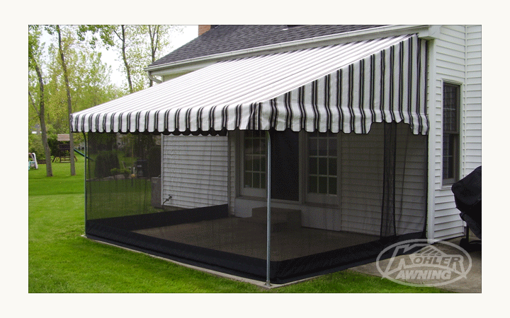 Screens For Patio Awnings By Kohler Awning Patio Patio Awning House Awnings