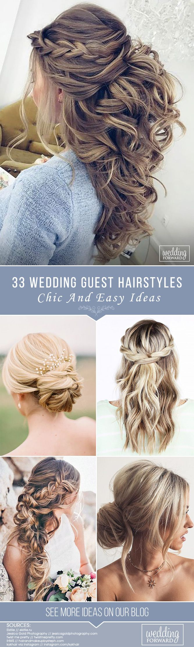 chic and easy wedding guest hairstyles hair styles pinterest
