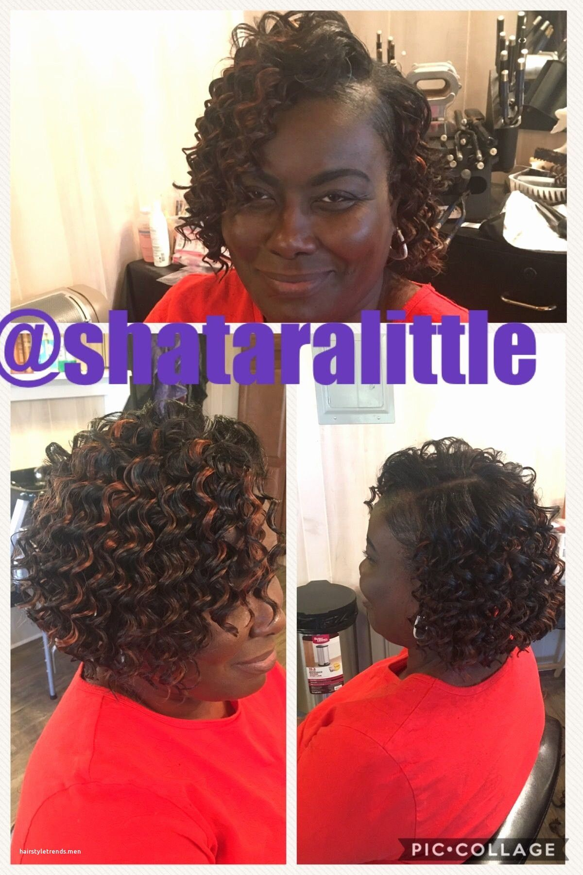 deep wave hairstyles for short hair