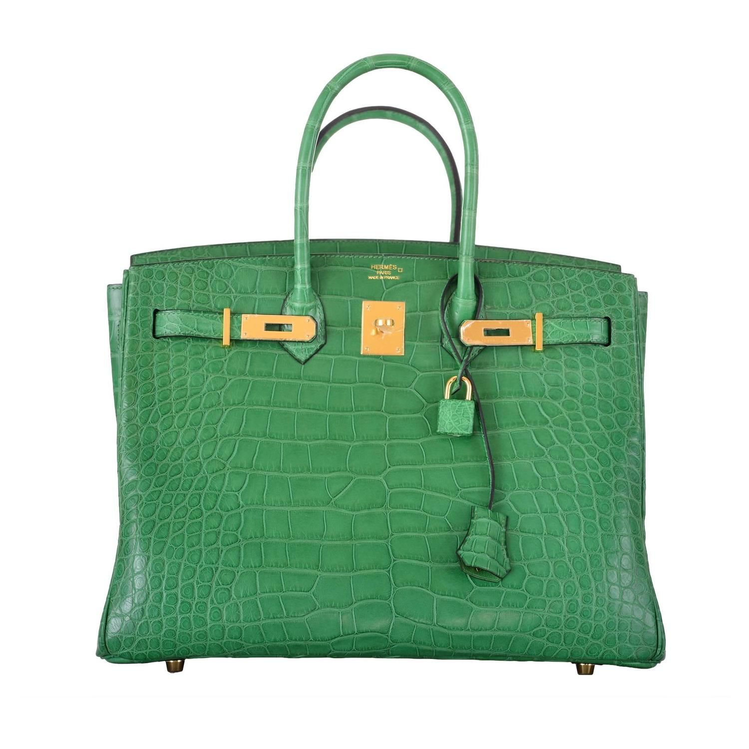 cdcb36b38469a HERMES BIRKIN BAG 35CM ALLIGATOR CACTUS GOLD HARDWARE JaneFinds ...