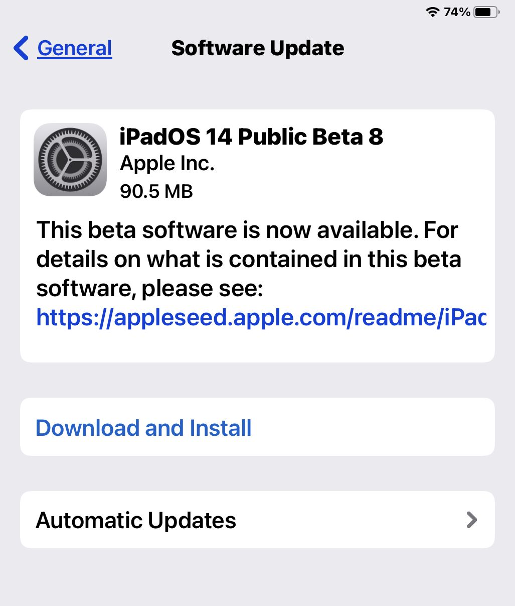 Ipados Ios 14 Beta 8 Available To Download Software Update Homescreen Beta