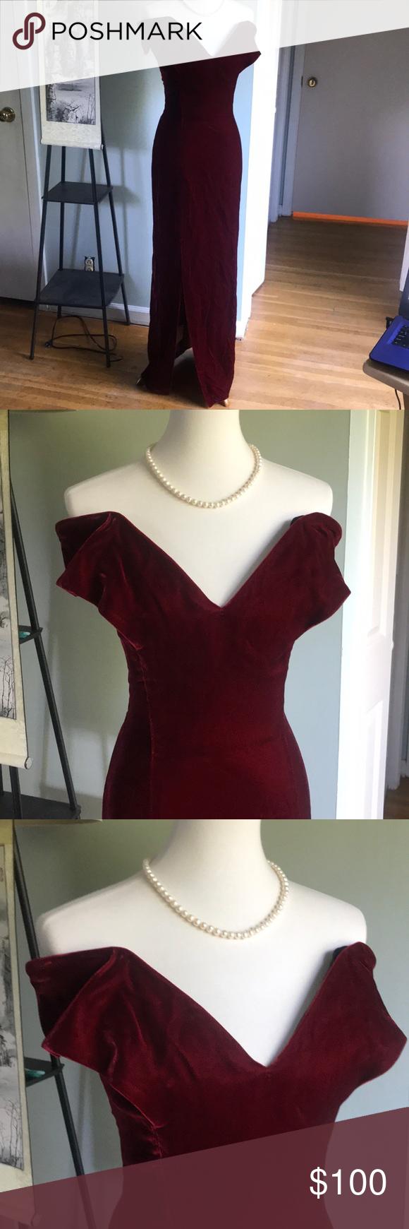 True Vintage Host Pick 6 24 Red Velvet Gown Velvet Gown Clothes Design Vintage Dresses [ 1740 x 580 Pixel ]