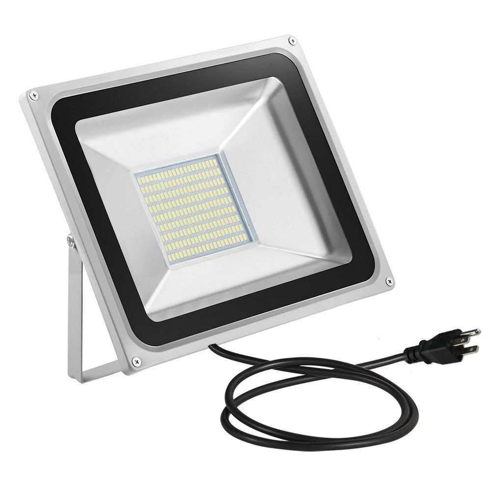Chunnuan Led Flood Light 100w 10000lumen 6000 6500k Cold White Waterproof Ip65 Instant On Ce And Rohs Certified Us 3 Plug Outdoor Security Lights Super Brig Security Lights Led Flood Lights Outdoor Security Lights
