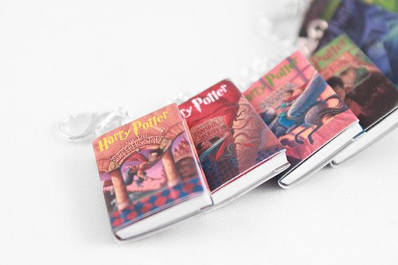 Harry Potter Miniature Book Bracelet (Scholastic Edition) - Harry Potter Jewelry, Doll House Book Miniatures, Geek Gift