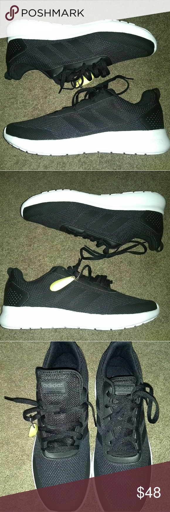 huge selection of 6794f 63a78 Adidas Element Race Running (DB1464) Men's Sz 13 Adidas Element Race  Running (DB1464) Athletic Sneakers Black White Men's SZ 13.
