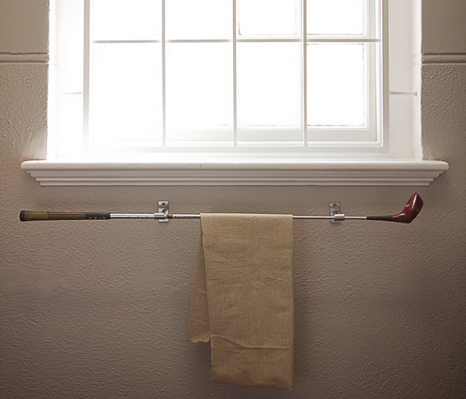 A Golf Club Makes Unique Towel Rack Extreme Interior Design Sports Meet Bathroom Decor From Bliss By Rotator Rod