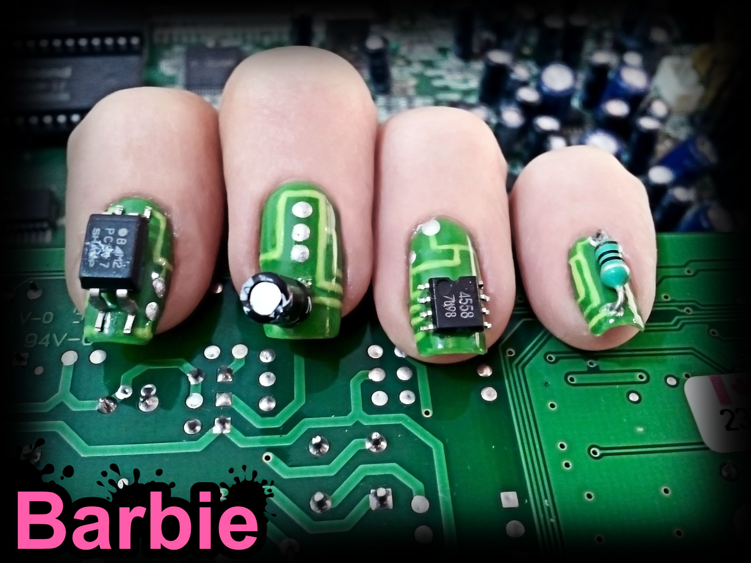 Circuit Nails - Nail design in electronic circuit form influenced by ...