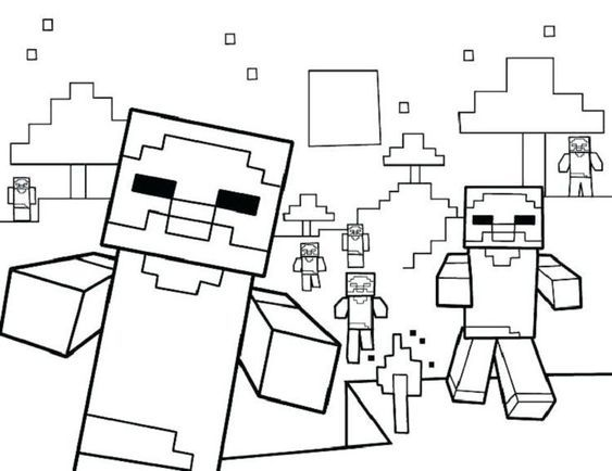 mario minecraft coloring pages  printable coloring pages