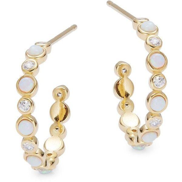 Tai Jewelry Opal stone hoops UutDLr