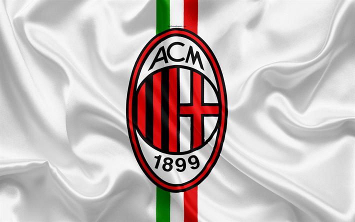 Lataa kuva Milano Italia, jalkapallo, Serie, Milan logo, Italia, football club