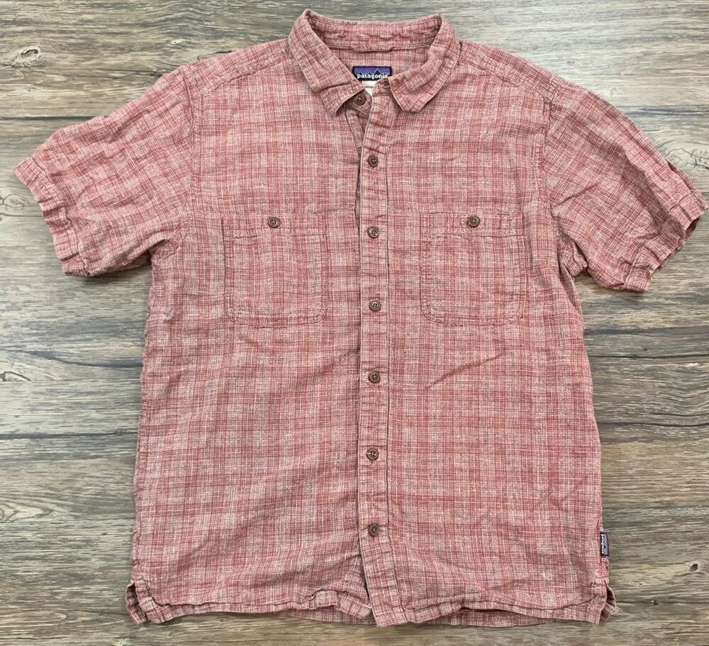 Mens Cotton and Hemp Button Down