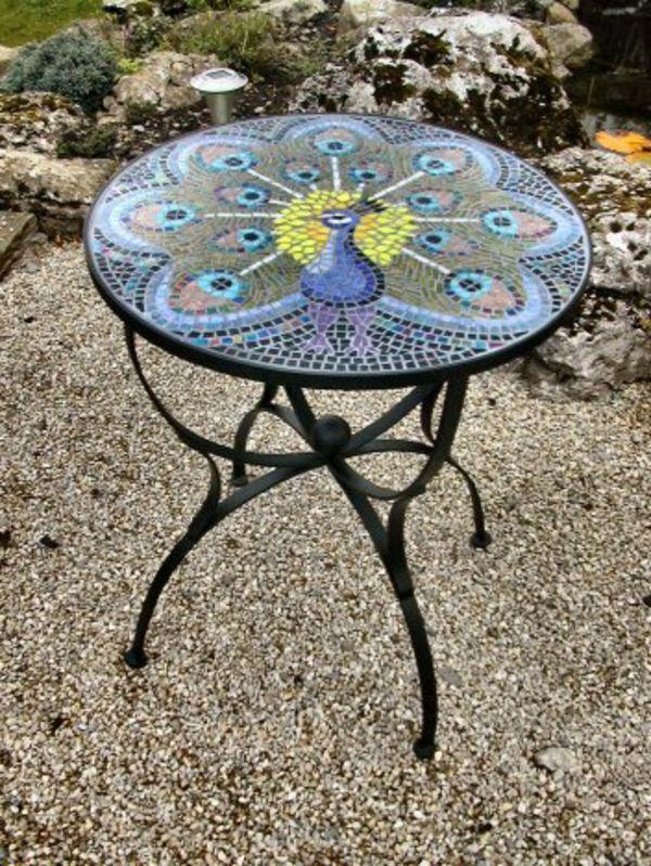 Gartentisch Aus Mosaik 30 Super Modelle Inspiration Mosaik