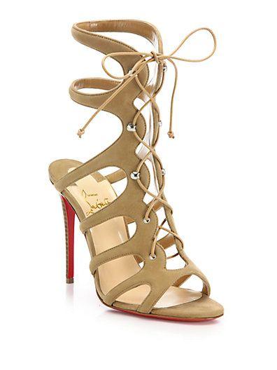 d952708663e2 CHRISTIAN LOUBOUTIN Amazon Suede Lace-Up Sandals