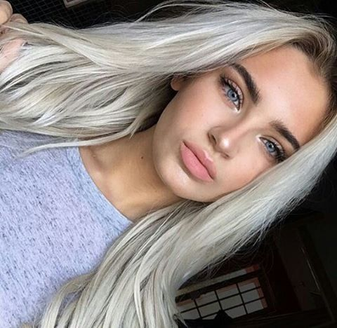 Bleach blonde stripper