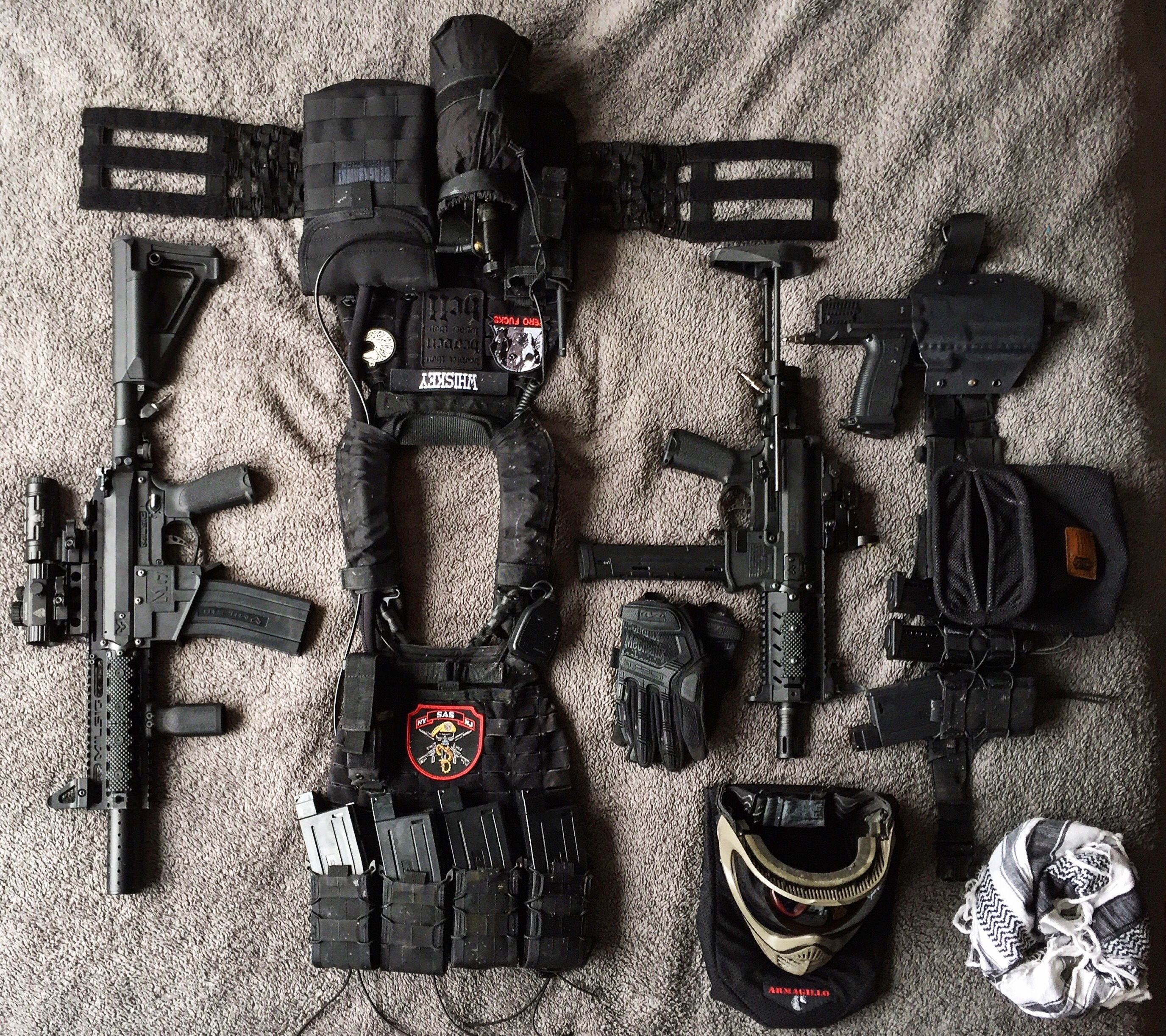 Full Paintball Loadout - 5 11 Tactec Plate Carrier, Milsig M17