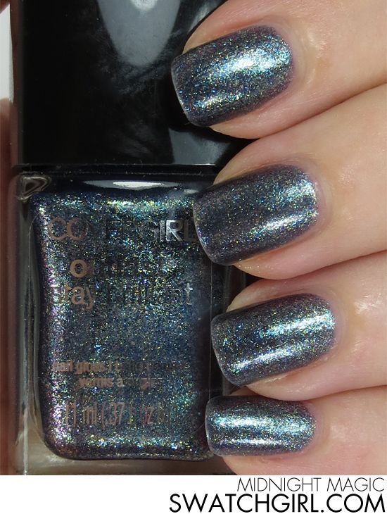 Covergirl Midnight Magic nail polish | Magic nails, Covergirl and Swatch