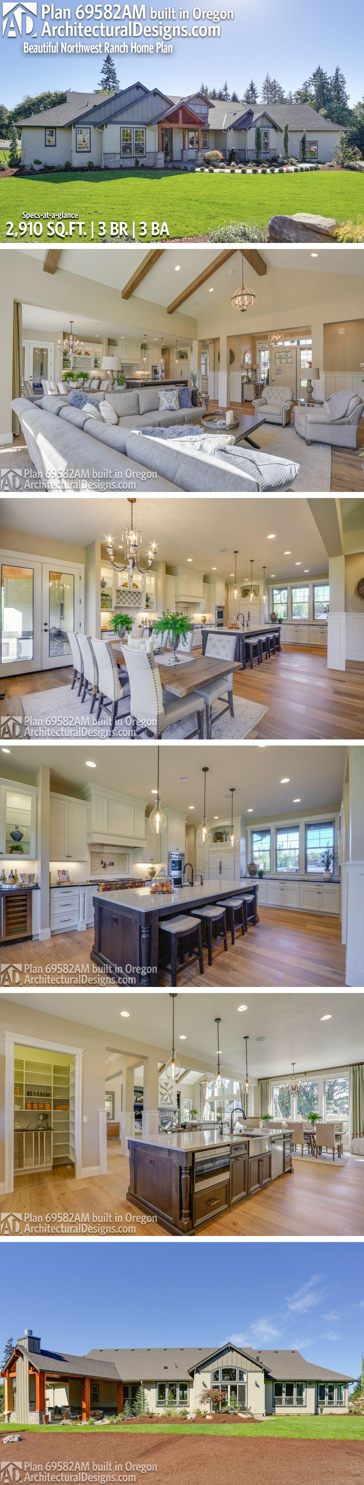 Marvelous Architectural Designs House Plan 69582AM Client Built In Oregon | 3 BR | 3  BA