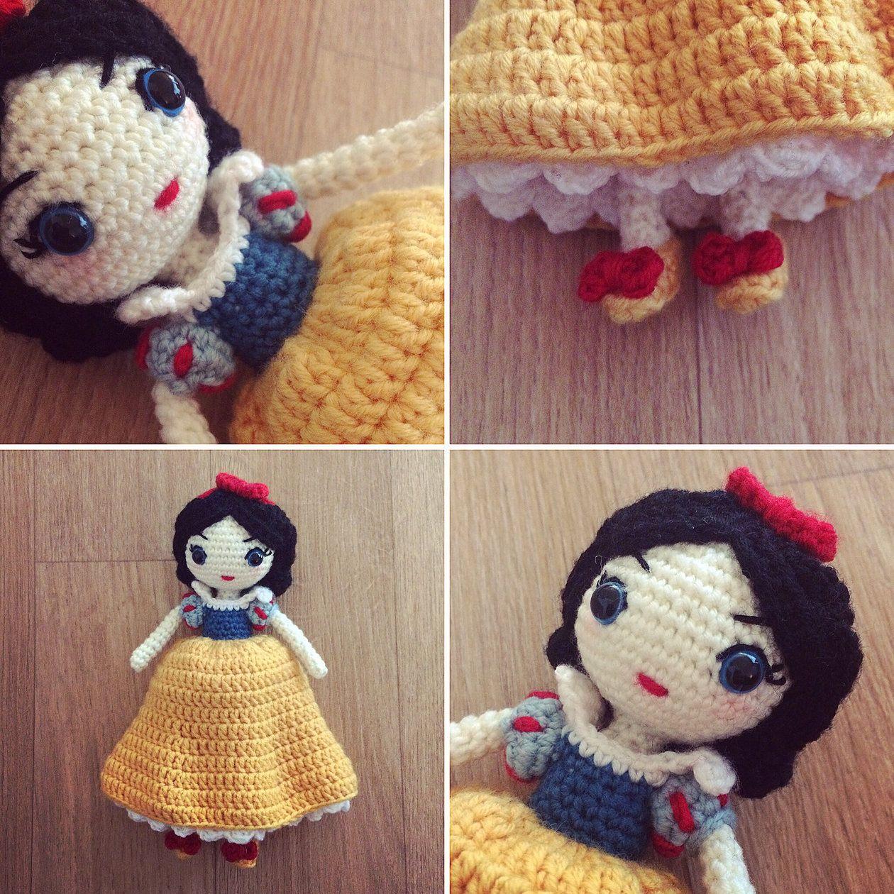 Snow White amigurumi doll | MyLittleCuteAmis - Amigurumi and crochet ...