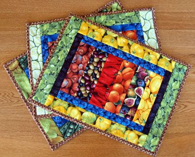 Lazy Girl Designs » Giveaway: Soft and Stable from ByAnnie | Table ... : easy quilted placemat patterns - Adamdwight.com