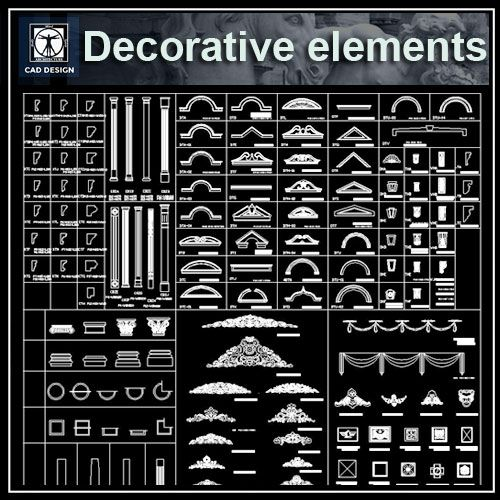 Elements Of Interior Design And Decoration architecture decoration drawing,decorative elements,architecture