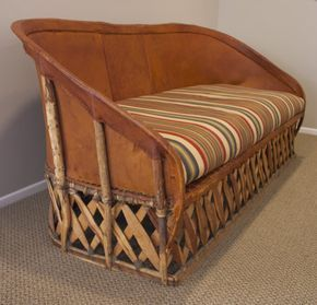 Mexican Equipale Leather Sofa Chair