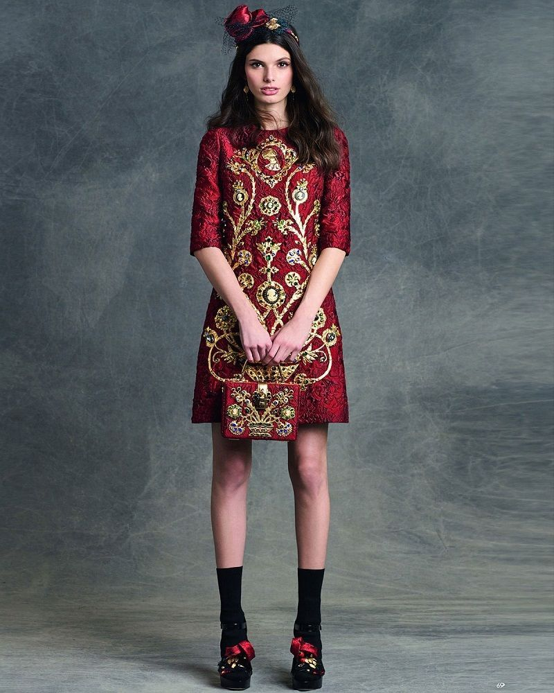 Nwt Dolce Gabbana Runway Embellished Cameo Dress 40 4 12 000 Ebay