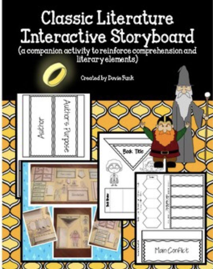 Classic Literature Interactive Storyboard  Literary Elements