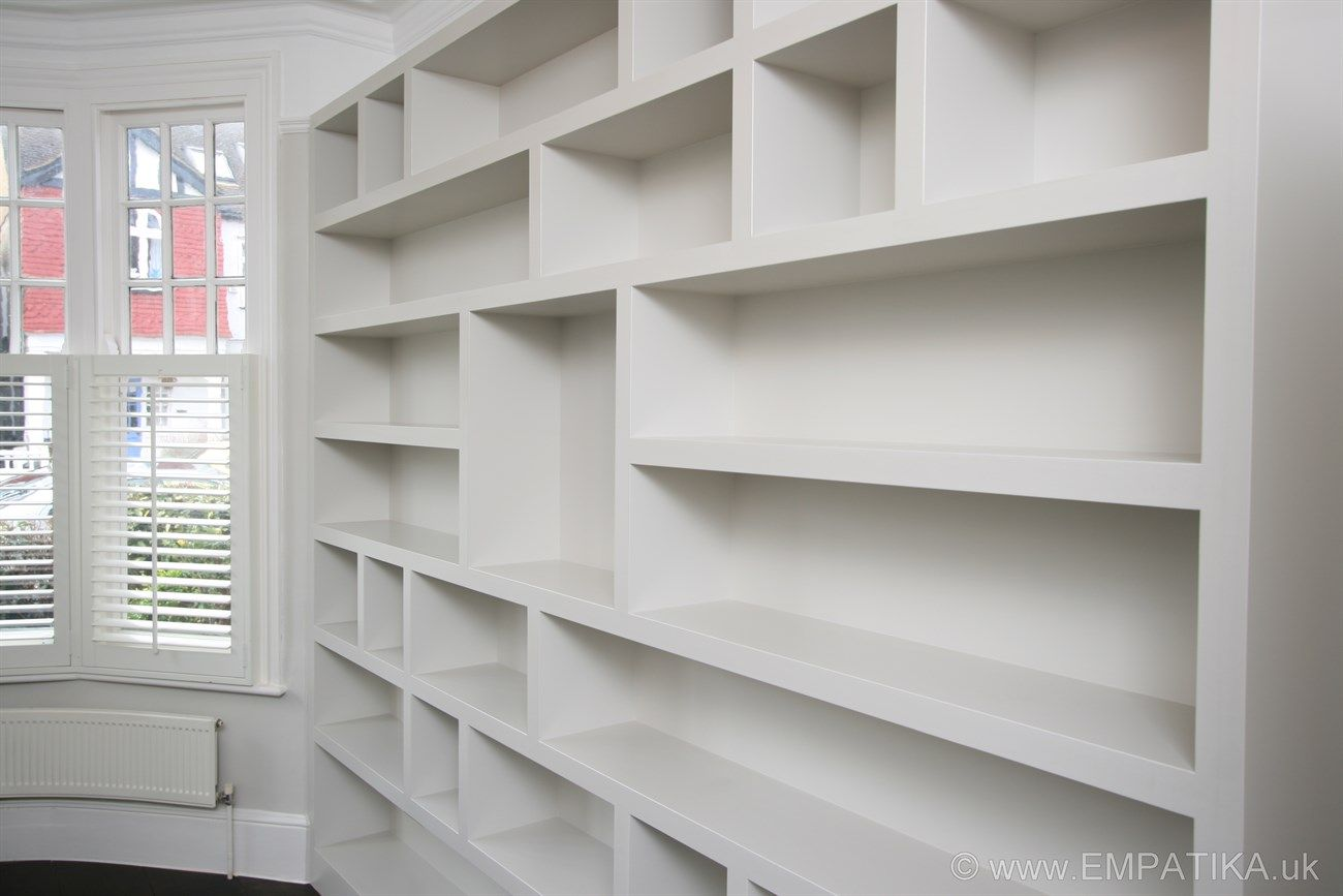 Bespoke Shelving Bookcase Modern Shelving Units Built In Wall