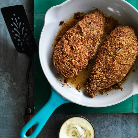 Pecan Crusted Chicken With Mustard Sauce Recipe Main Dish Recipes To Try Pinterest