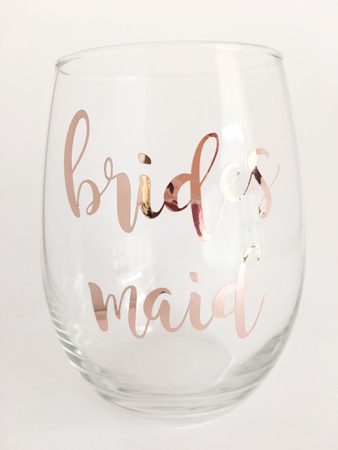 Rose Gold Bridesmaid Wine Gl Gift Bridal Party Gifts Maid Of Honor