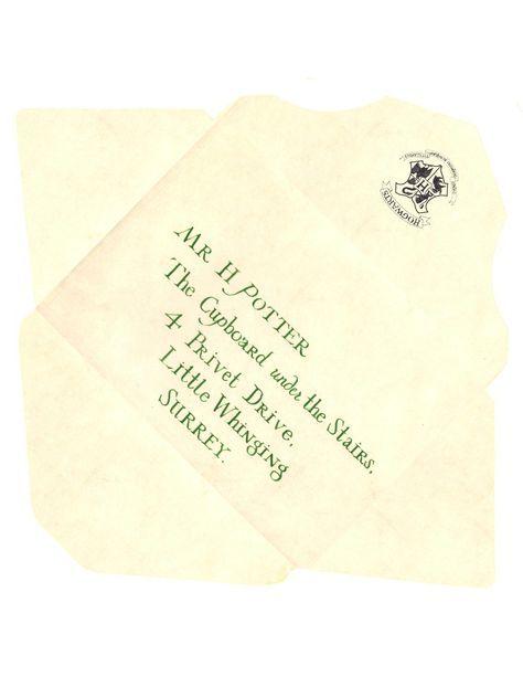 Harry Potter Envelope Template Hogwarts Acceptance Letter Www