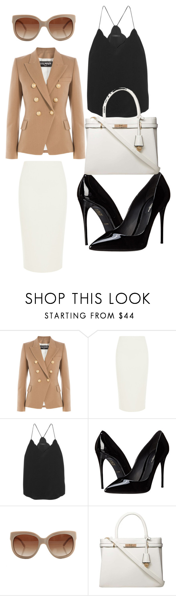 """""""Work wear"""" by xeebae on Polyvore featuring Balmain, C/MEO COLLECTIVE, J.Crew, Dolce&Gabbana, STELLA McCARTNEY and Dorothy Perkins"""