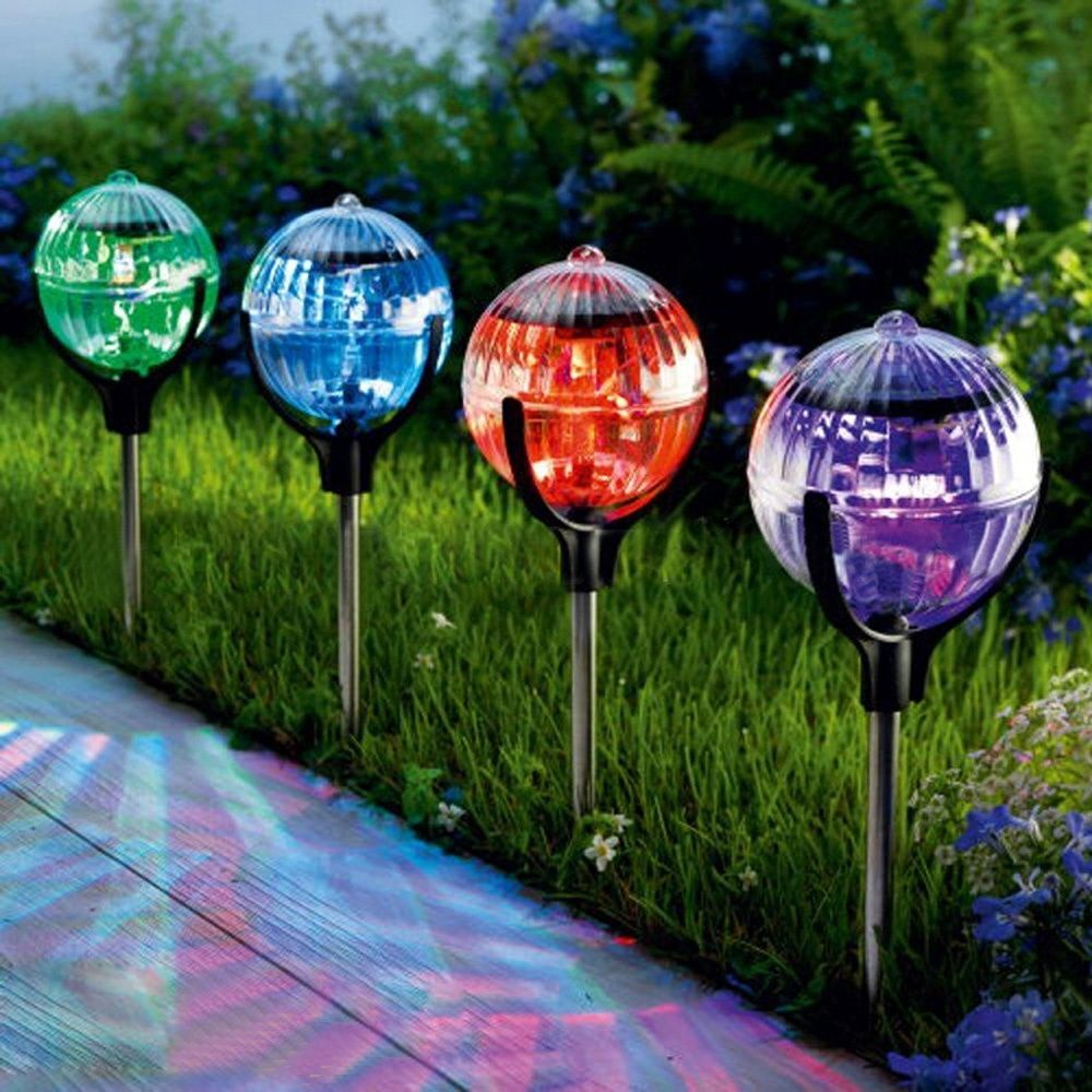 Pas cher 2 pcs/lote Solar Powered LED light, Changement de couleur ...