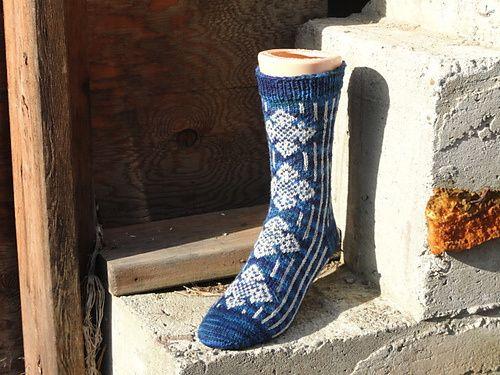 Celtic Cross Sock Pattern by Mrs. Hudson's yarns and Teas. Pattern here: http://www.ravelry.com/patterns/library/celtic-cross-socks