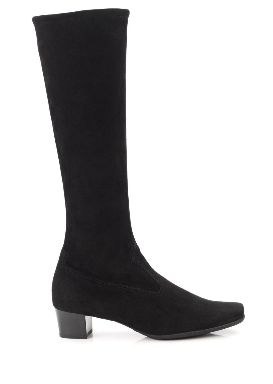 Black suede 'Aila' mid heeled knee high boots cheap sale outlet locations hF8Pin0j