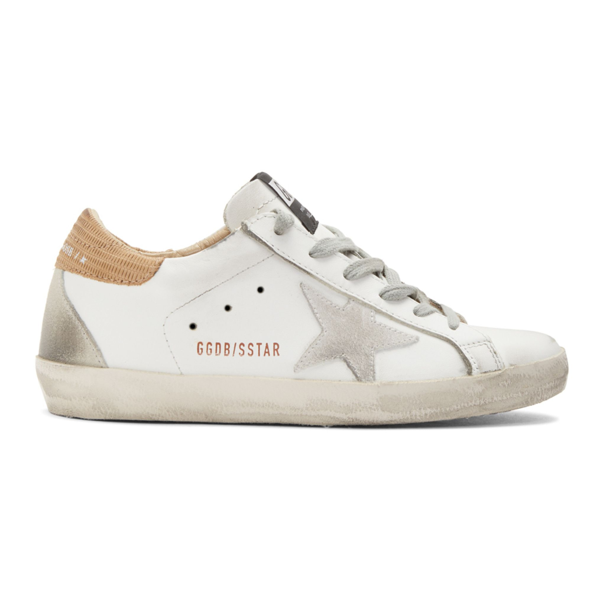 Golden Goose White Lizard Superstar Sneakers SSENSE in