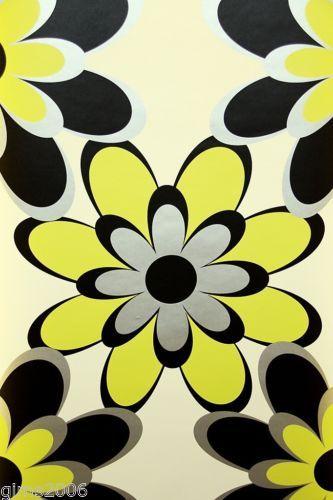 Samba Flower Retro Wallpaper 8830-18 | eBay