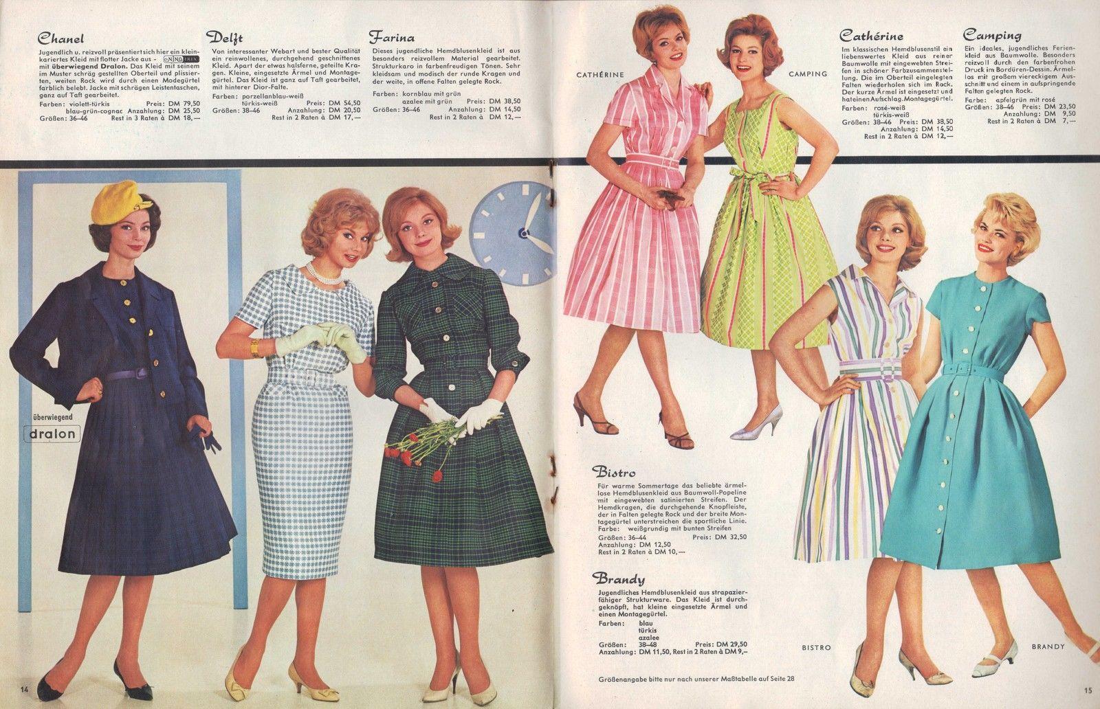 Bremen 18 katalog 1960 f r dich versand gmbh damen mode for Bode mode versand