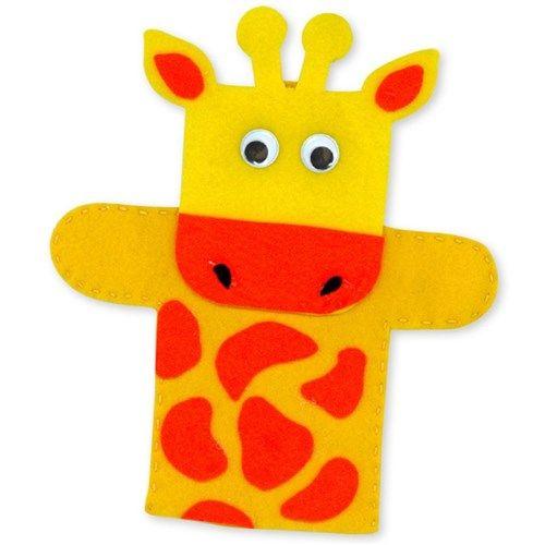 Felt Giraffe Hand Puppet #handpuppets