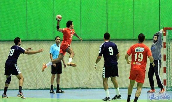 الزمالك يتغل ب على 6 أكتوبر في دوري كرة اليد Basketball Court Sports Court