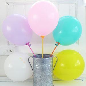 Pack Of Ten Pastel Balloons