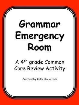 """Grammar Emergency Room Amazing activity to engage students in grammar review.  Students get to be """"doctors' and """"operate"""" on the """"patients"""" by fixing sentences!"""