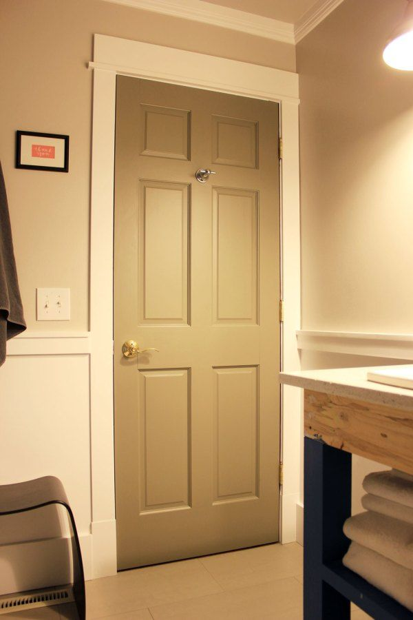gray doors (color: squirrel) with white trim | Walls | Pinterest ...