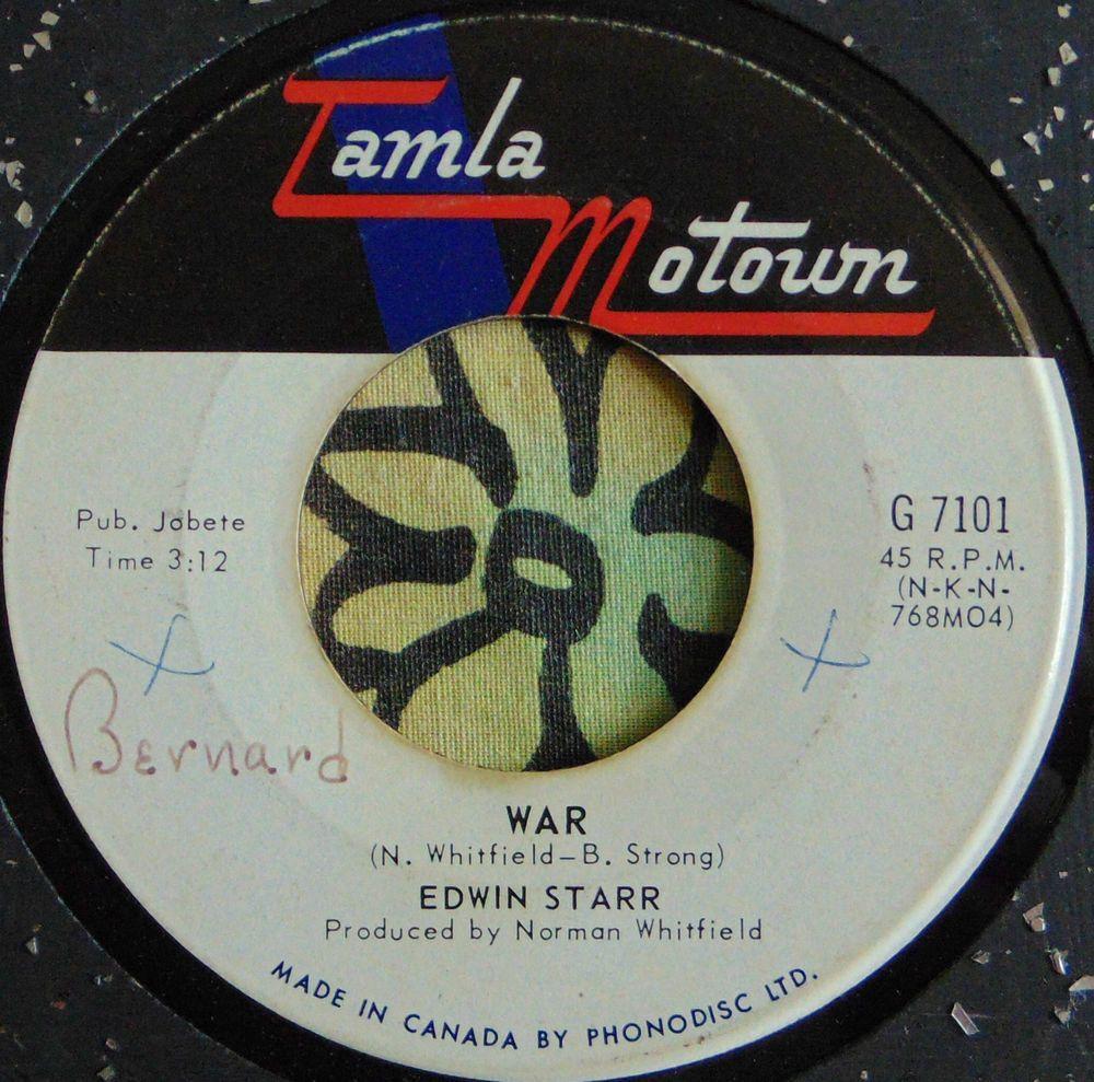 Edwin Starr War He Who Picks A Rose 1969 Can Hear Vinyl Record Art Starr Music Publishing