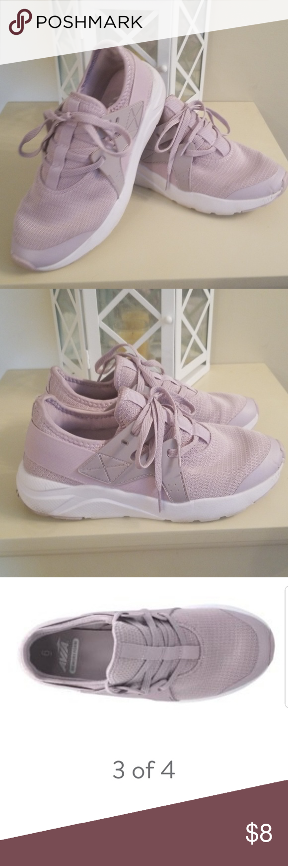 023ae40f5888 AVIA Women s Caged Mesh Athletic Shoe LAVENDER Memory Foam Athletic Shoe  Made by AVIA. Lavender in color. Great Condition. Bought for work but color  is not ...