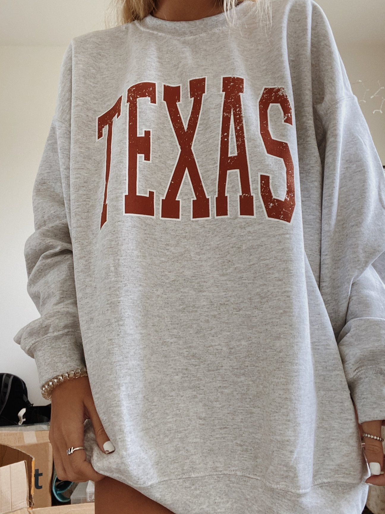 Original Texas Crewneck Trendy Hoodies Sweatshirts Women Vintage Hoodies [ 1728 x 1296 Pixel ]