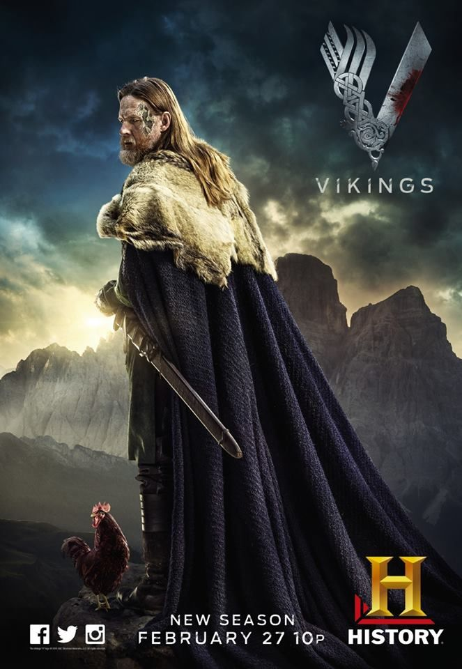 Season 2 Promotional Poster King Horik Vikings Ragnar Travis