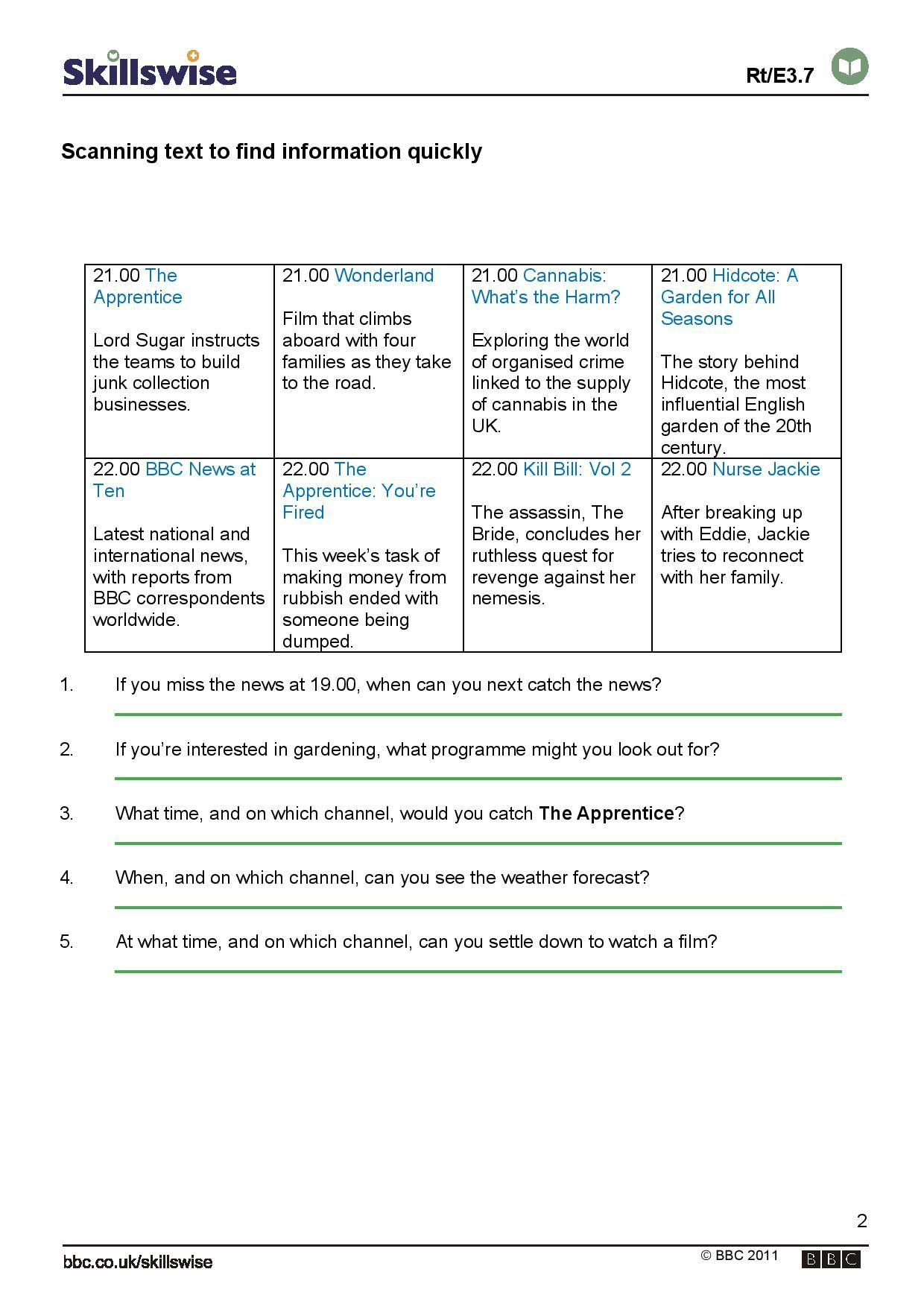 New Reading Response Worksheets